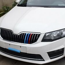 3D Car Front Grilles Trim Sport Strips Cover For Skoda Rapid Spaceback