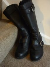 Nine West brown leather knee high boots size 7