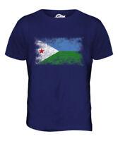 Djibouti Drapeau Délavé pour Hommes Haut T-Shirt J ?B? T?Djiboutien Chemise