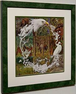 BEV DOOLITTLE Sacred Circle Matted & Framed Open Edition Art Print