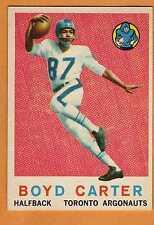 1959 TOPPS CFL BOYD CARTER TORONTO ARGONAUTS #68 (SANTA MONICA COLLEGE) EX/NRMT