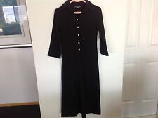 CHRISTOPHER ARI Black Shirt Long Sleeve Dress Size 8