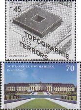 BRD 3276,3285 (kompl.Ausg.) gestempelt 2017 Topographie des Terrors, Ludwigsbur