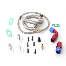 OIL DRAIN RETURN FEED LINE KIT FOR TOYOTA 1JZGTE 2JZGTE 1JZ 2JZ SINGLE TURBO
