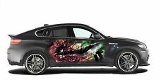 Car Side Full Color Graphics Vinyl Sticker Abstract Anime Girl Sword Body Decal