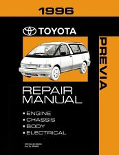 1996 toyota previa shop service repair manual book engine drivetrain oem