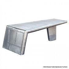 "55"" Long Aviator Coffee Table Aircraft Wing Aluminum Cool Modern Design"