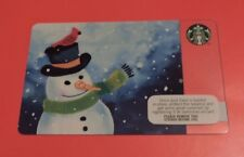 STARBUCKS IRELAND SNOWMAN 2016 GIFT CARD.NO VALUE COLLECTORS ITEM