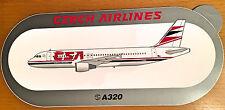 CZECH AIRLINES A320, Sticker, Aufkleber, High Quality, neu/new, TOP & SELTEN !!!