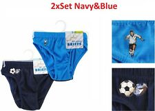 Boys Football 2 Pack 100% Cotton Briefs underpants Age 2-3 3-4 5-6 years