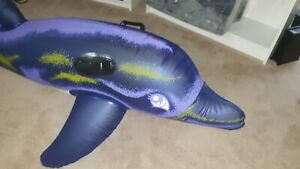 inflatable Sunco dolphin pool toy vintage float ride on great condition
