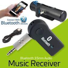 Wireless Bluetooth Audio Receiver Music Adapter Mic Car 3.5mm Jack AUX UK