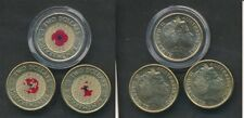 Australia: 2012 $2 Remembrance Day Poppy coin Lot of 3, Missing Colours???