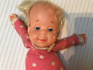 ORIGINAL, 1964 Vintage Mattel Polka Dot DROWSY DOLL, No Longer Speaking