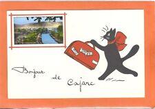 CARTE ILLUSTRATEUR RENÉ CHAT NOIR VINTAGE (CAJARC-LOT) OLD POSTCARD BLACK CAT