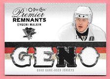 """09/10 OPC Premier Remnants #EM Evgeni Malkin """"GENO"""" Quad Jersey #14/25"""
