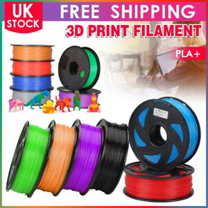 3D Printer Printing Filament PLA+ 1.75mm Roll 1KG Weight  Various Colours UK