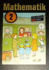 DDR Schulbuch Mathematik Klasse 2 - 1986 - 1. Auflage (Ausgabe 1985) RARITÄT NEU