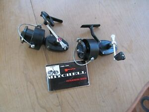 2 Vintage Garcia Mitchell 300  Spinning Fishing Reels. , Made in France