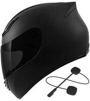 Bluetooth Motorcycle Helmet DOT full face + Free Tinted Visor S M L XL XXL