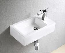 Gäste WC Waschbecken für Wandmontage Keramik brilliant weiß Handwaschbecken Bad