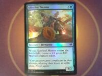 Foil Elderleaf Mentor - Kaldheim - Magic the Gathering Mtg - Snow Green