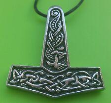 Viking Jorvik Mjölnir Thor's Hammer Pewter Pendant Necklace - Made in Scotland