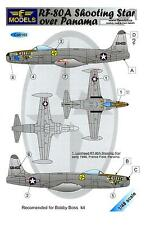 LF Models Decals 1/48 LOCKHEED RF-80A SHOOTING STAR OVER PANAMA with Paint Masks