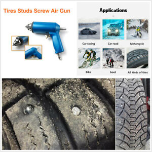 Car Tire Nail Air Gun+1000PCS Car Tires Snow Spikes Wheel Tyre Snow Chains Studs