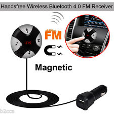 Handsfree Wireless Bluetooth 4.0+EDR FM Receiver 3.5mm TF Car Kit Mp3 Player AUX