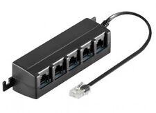 s-conn isdn 5-fach verteiler kabel rj45 splitter s0-bus adapter mit wiederstand