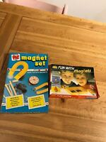 Vintage Magnet Sets Games Fun With Magnets Salter Pic Toys