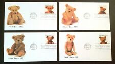 FLEETWOOD #3653-3656 TEDDY BEARS 4 FDC SET