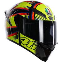 AGV K1 Full Face Motorcycle Motorbike Sport Rossi Replica Helmet - Soleluna 2015