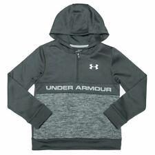 Boy's Under Armour Junior Armour Fleece RFT 1/2 Zip Hoodie Top in Grey