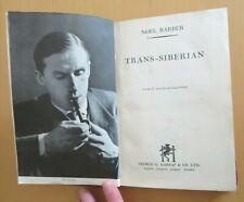 Trans Sibirien von Barber 11 S * 1st/ed Russland japanische Manchukuo Zug 1942