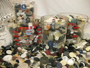 200 Vintage Sewing Shirt Buttons Mix Shades of White