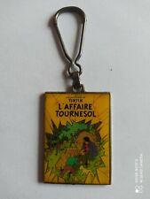 Porte clés Verni TINTIN L'AFFAIRE TOURNESOL keychain Vintage 80'