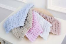 5pcs Baby Bibs 100% muslin Cotton Face Washer Feeding Kid Toddler Unisex AU012