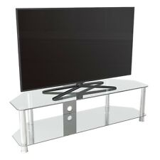 Soporte Tv Vidrio Transparente hasta 165cm For HD Plasma LCD Led Curvados Tvs -