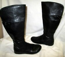 *UNLISTED by KENNETH COLE Black Side Zip Knee High Boots Sz 6M EUC CUTE