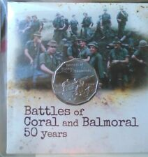 2018  Battles of Coral and Bamoral 50 years.  PNC / FDC.UNCIRCULATED 50c Coin.