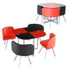 Set di tavoli e sedie nere