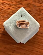 Republic Steel 10K Gold Pin TieTac 2 Blue Stones 1 White Stone 1.8 grams