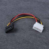 5pcs 4-Pin IDE Molex a 15-Pin Serial ATA SATA Disco Cable adaptador de corriente