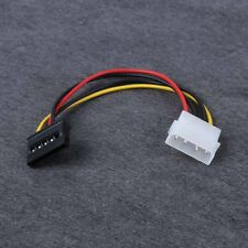 4-Pin IDE Molex to 15-Pin Serial ATA SATA Hard Drive Power Adapter Cable 2pcs