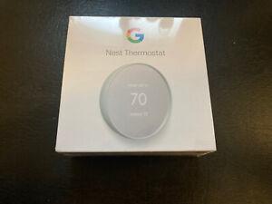 Google Nest Smart Thermostat G4CVZ L Fog GA02083-US - New Sealed