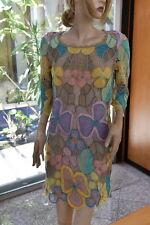 Vintage, Unique 100% Cotton Hand Crochet 3/4 Sleeve Dress Fit M, L by Lim's