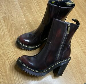 Dr Martens MAGDALENA II CHERRY RED ARCADIA UK SIZE 4 Brand New