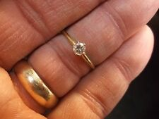 #3 of 6, LADIES 14K YELLOW GOLD & DIAMOND SOLITAIRE ENGAGEMENT/WEDDING RING, VGC